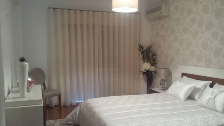 Apartamento T1: Quarto  por Decoracoes Gina, Lda