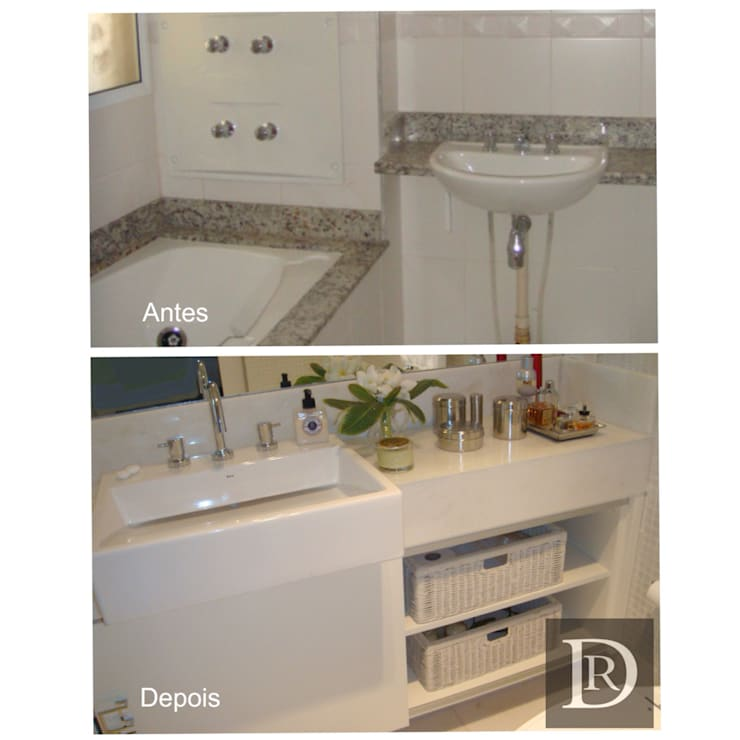 Banheiro :   por Debora de Rezende   arquitetura e interiores
