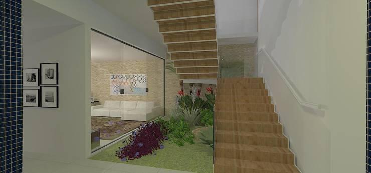 casa bq: Corredores e halls de entrada  por grupo pr   arquitetura e design