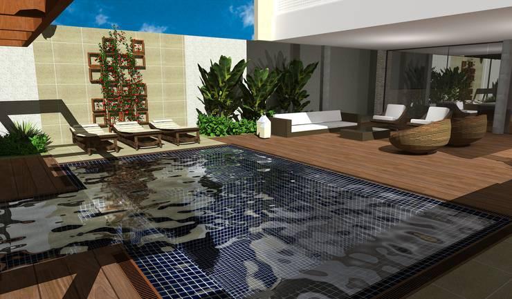 casa bq: Piscinas  por grupo pr   arquitetura e design