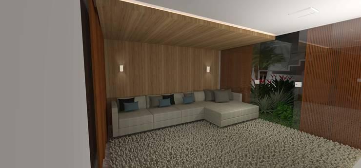casa bq: Salas multimídia  por grupo pr   arquitetura e design