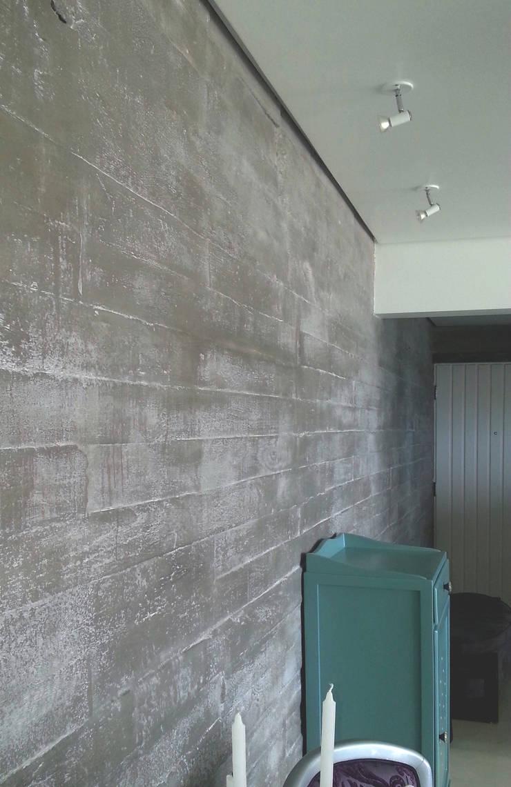 Parede ou muro... - ap varandas: Paredes  por omnibus arquitetura,