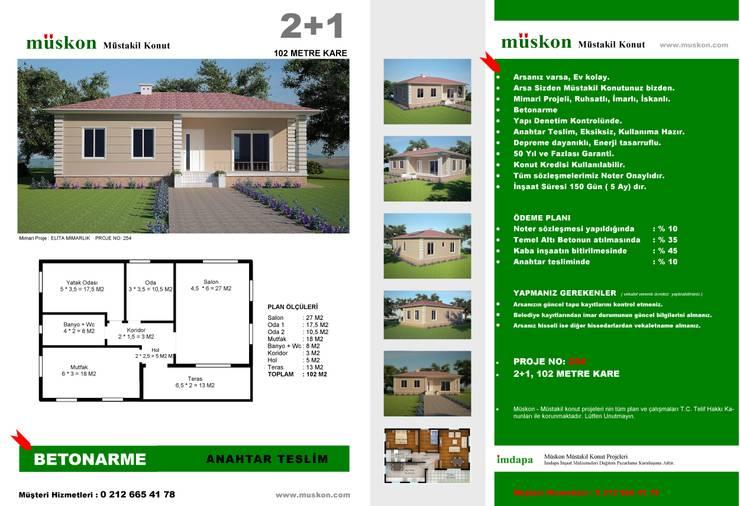Müskon - Müstakil Konut Projeleri – Müstakil Konut (Fransızcası : Villa ):  tarz Bahçe