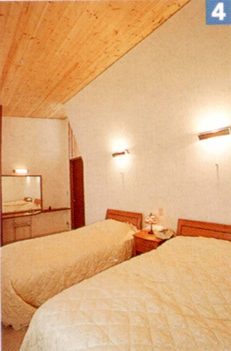 ベッドル-ム: 一級建築士事務所ATELIER-LOCUSが手掛けた寝室です。