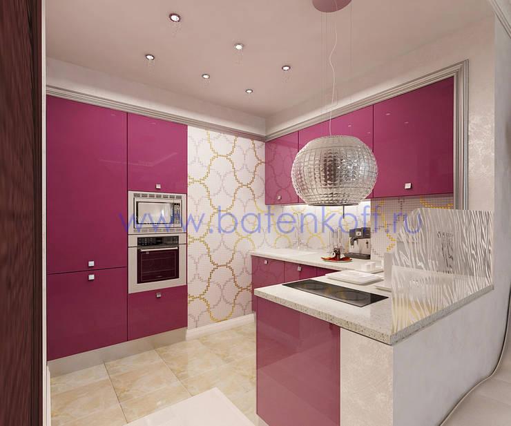 Дизайн проект гостиной  для девушки.: Кухни в . Автор – Дизайн студия 'Дизайнер интерьера № 1'