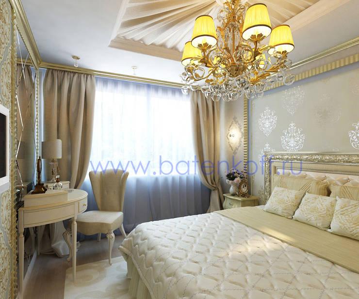 Bedroom by Дизайн студия 'Дизайнер интерьера № 1', Classic Textile Amber/Gold