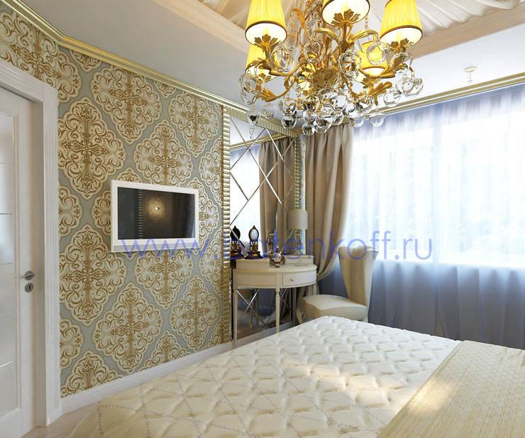 Bedroom by Дизайн студия 'Дизайнер интерьера № 1', Classic Silver/Gold
