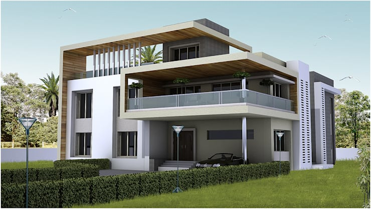 Villa At Pune:  Houses by ACA Architects