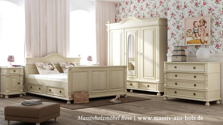 Landhausschrank In Antik Weiß: Landhausstil Schlafzimmer Von Massiv Aus Holz