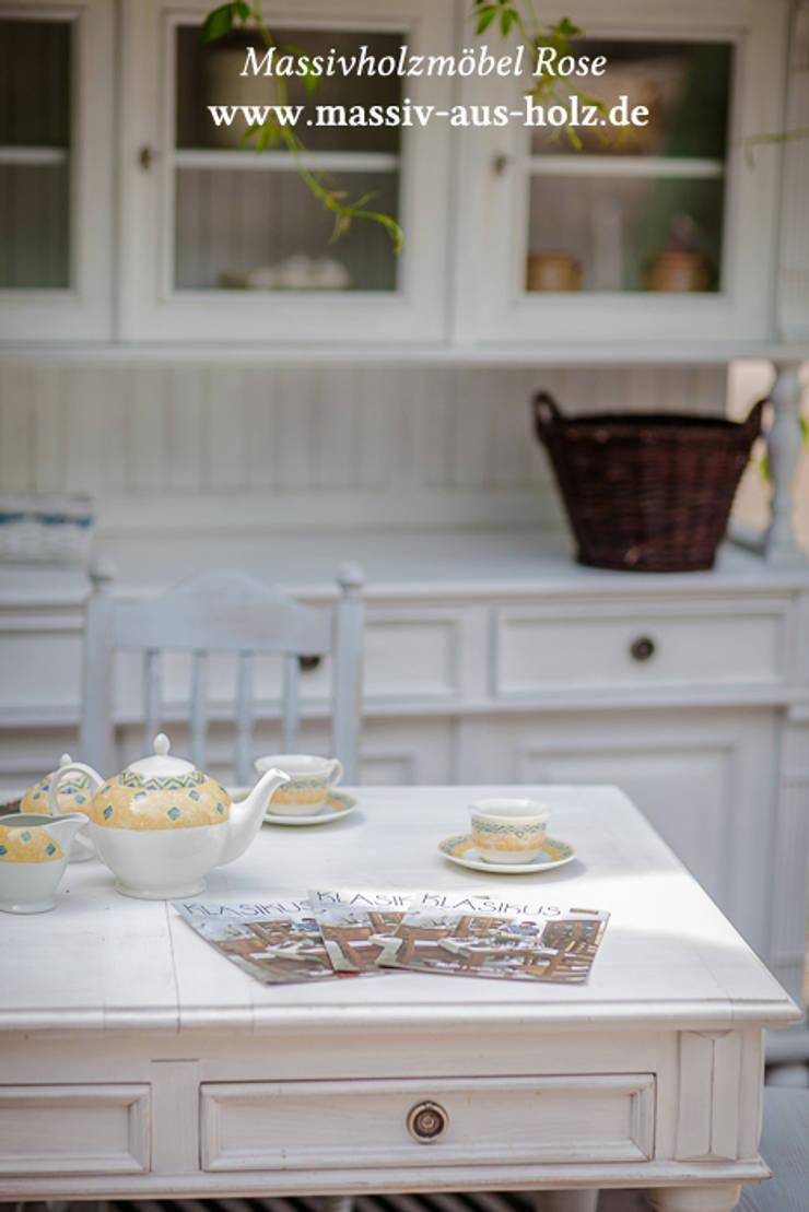 Landhausmoebel Shabby Chic Alt Weiß Von Massiv Aus Holz