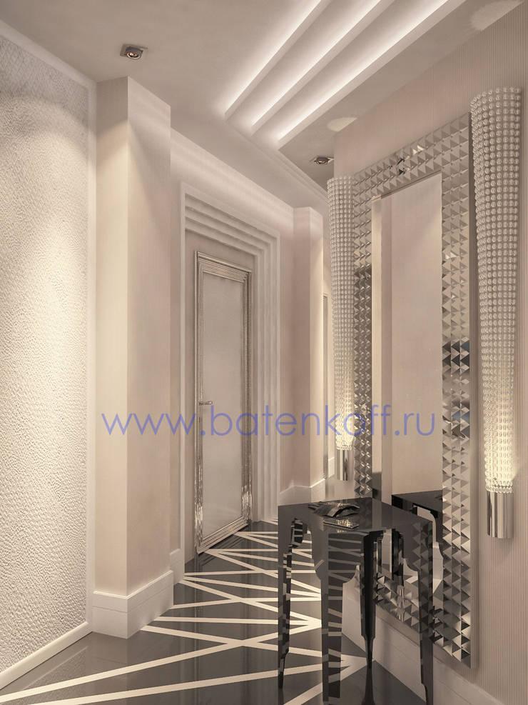 Дизайн проект прихожей в стиле ардеко в квартире: Коридор и прихожая в . Автор – Дизайн студия 'Дизайнер интерьера № 1'