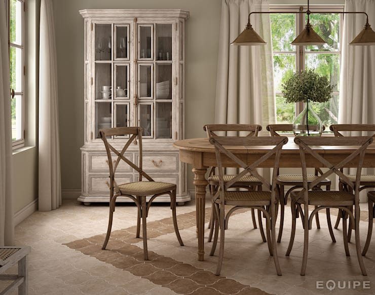 rustic Dining room by homify