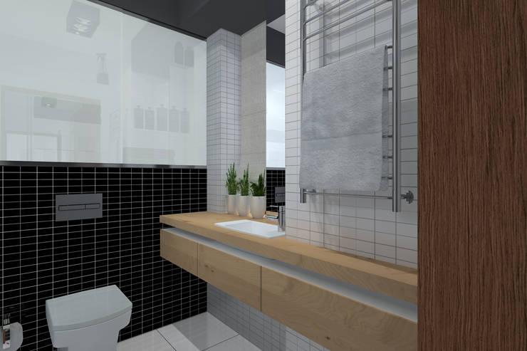 Baños de estilo moderno de ABC Pracownia Projektowa Bożena Nosiła Moderno