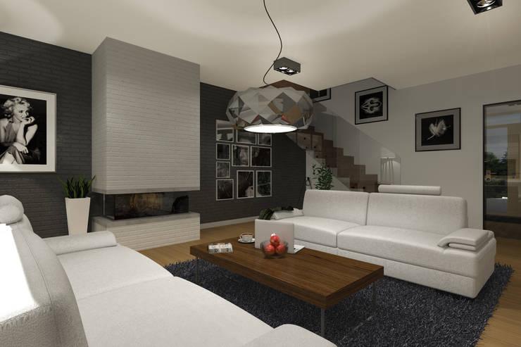 Salones de estilo moderno de ABC Pracownia Projektowa Bożena Nosiła Moderno