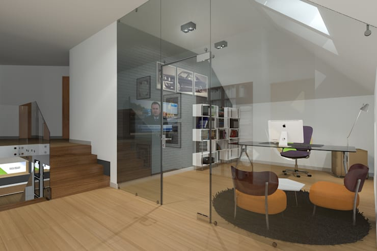 Estudios y despachos de estilo moderno de ABC Pracownia Projektowa Bożena Nosiła Moderno