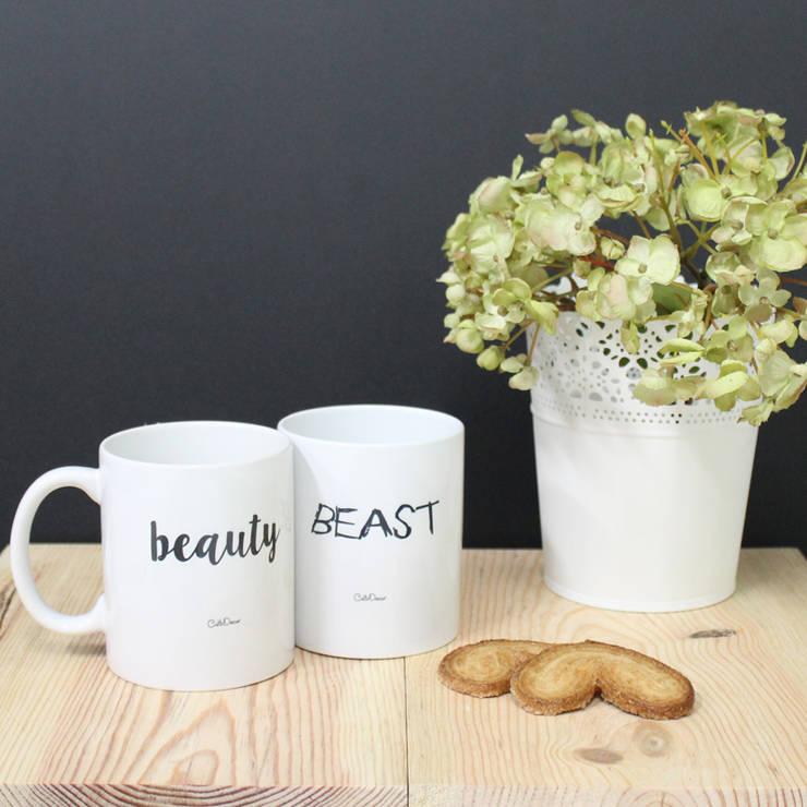 Canecas Beauty & Beast: Cozinha  por Culto Decor