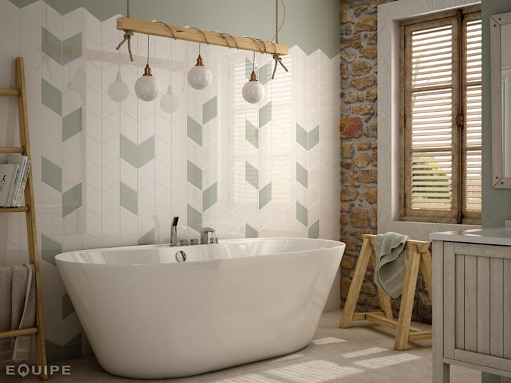 rustic Bathroom by Equipe Ceramicas