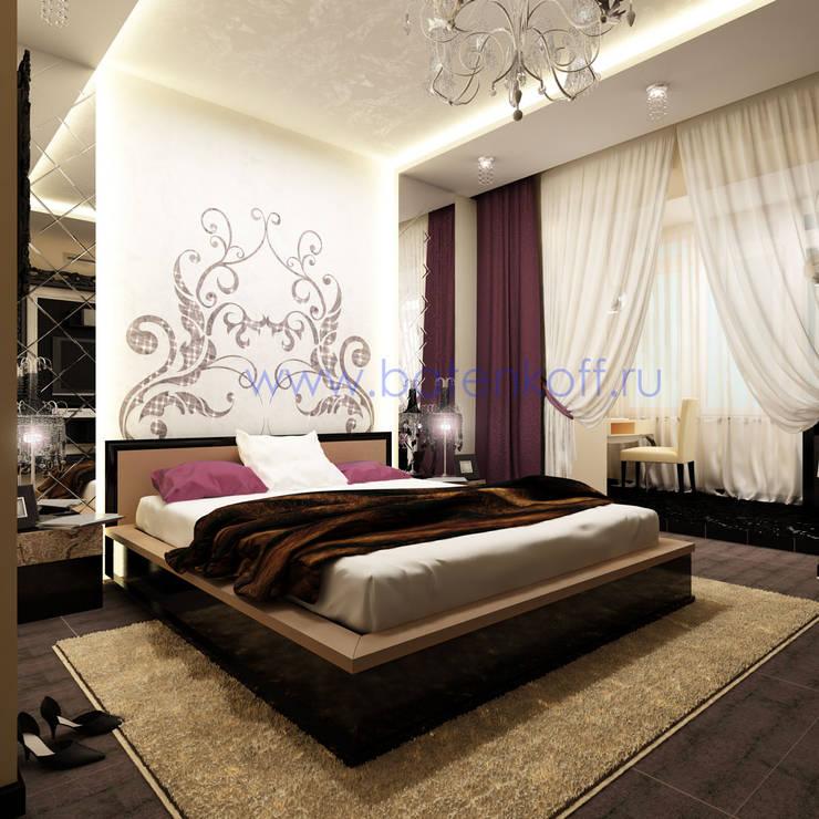 Дизайн проект спальни в стиле ардеко в квартире: Спальни в . Автор – Дизайн студия 'Дизайнер интерьера № 1'