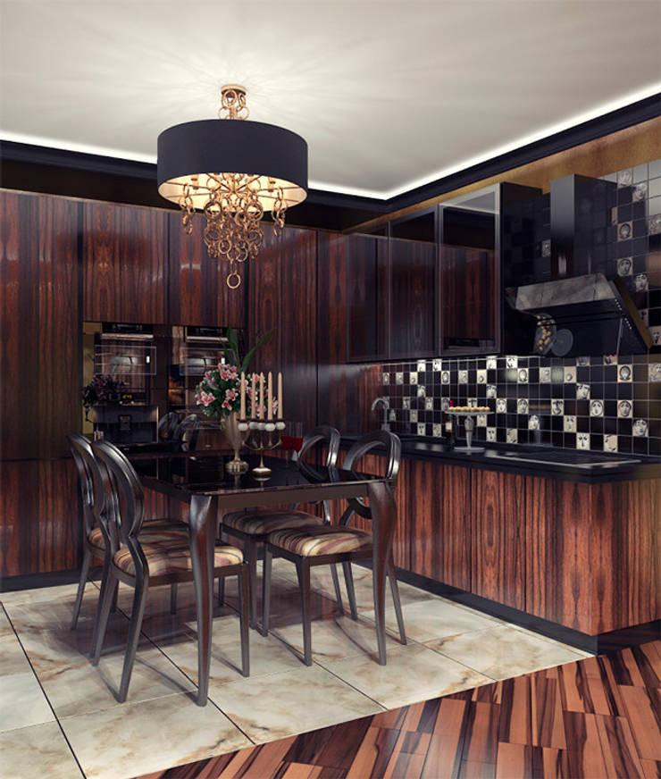 Emerald-green hills: Кухни в . Автор – Alena Gorskaya Design Studio