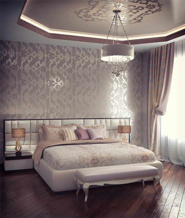 Emerald-green hills: Спальни в . Автор – Alena Gorskaya Design Studio