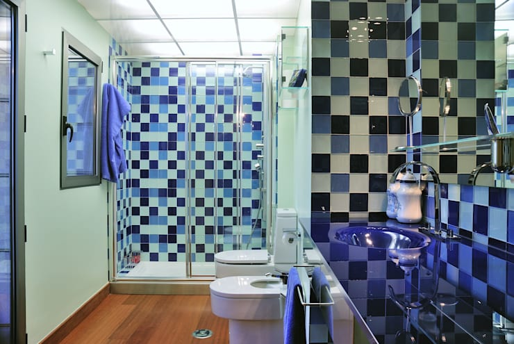 Ático - duplex en Murcia: Baños de estilo ecléctico de Rosa Sánchez Arquitectura de interior