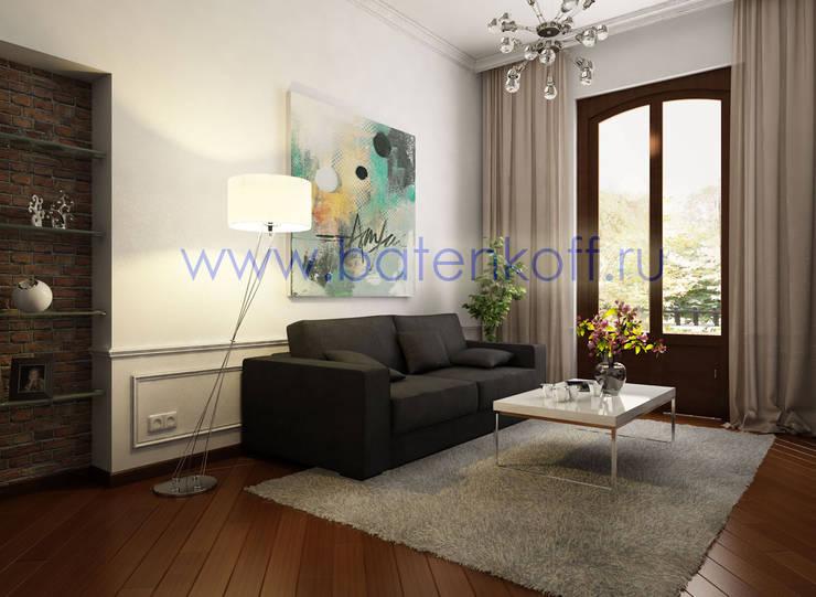 Дизайн проект небольшой квартиры в Милане: Гостиная в . Автор – Дизайн студия 'Дизайнер интерьера № 1'