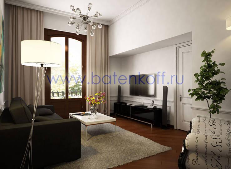 Дизайн проект небольшой квартиры в Милане: Медиа комнаты в . Автор – Дизайн студия 'Дизайнер интерьера № 1',