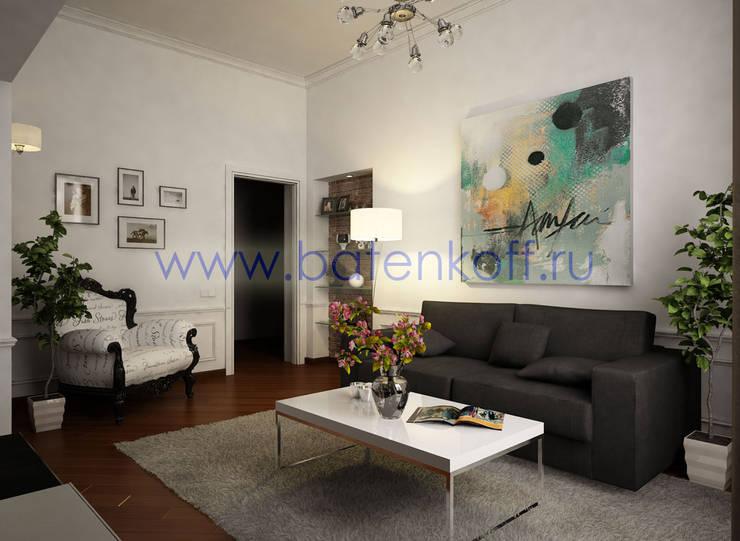Дизайн проект небольшой квартиры в Милане: Рабочие кабинеты в . Автор – Дизайн студия 'Дизайнер интерьера № 1',