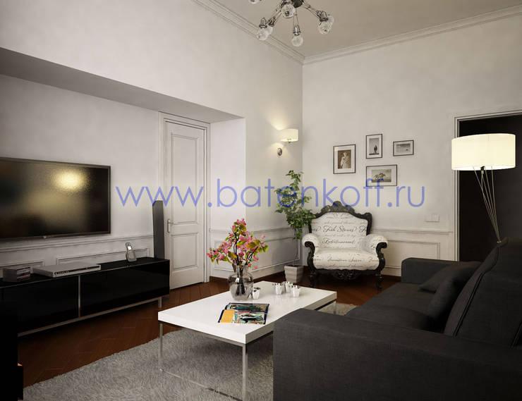 Дизайн проект небольшой квартиры в Милане: Гостиная в . Автор – Дизайн студия 'Дизайнер интерьера № 1',