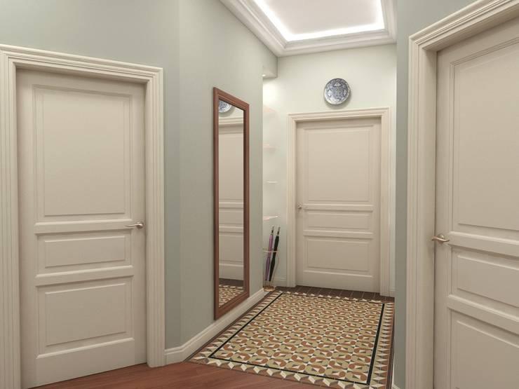 Skolkov wood: Коридор и прихожая в . Автор – Alena Gorskaya Design Studio,