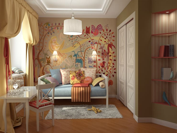 Skolkov wood: Детские комнаты в . Автор – Alena Gorskaya Design Studio,