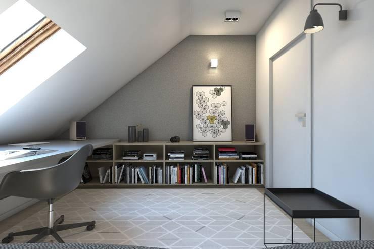 Estudios y despachos de estilo  de BAGUA Pracownia Architektury Wnętrz