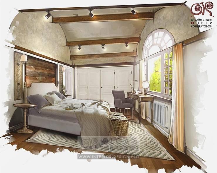 Дизайн спальни в доме в стиле кантри: Спальни в . Автор – Olga's Studio
