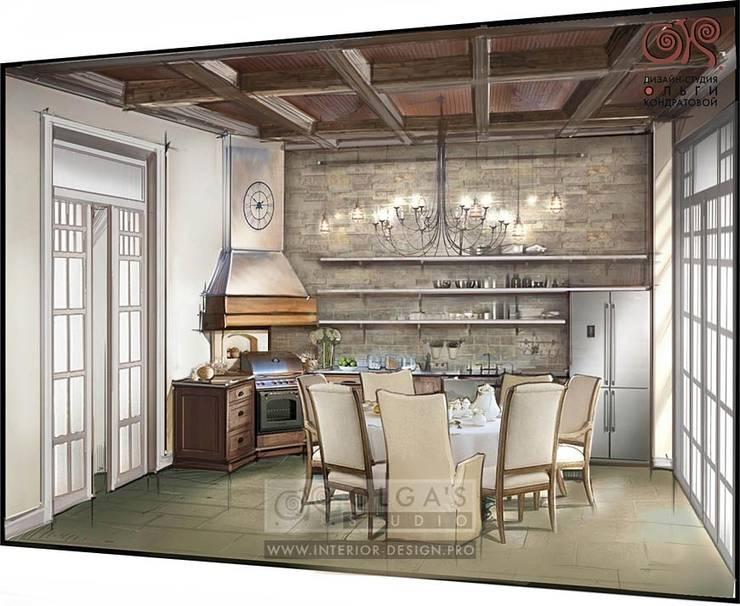 Дизайн кухни-столовой в стиле кантри: Кухни в . Автор – Olga's Studio
