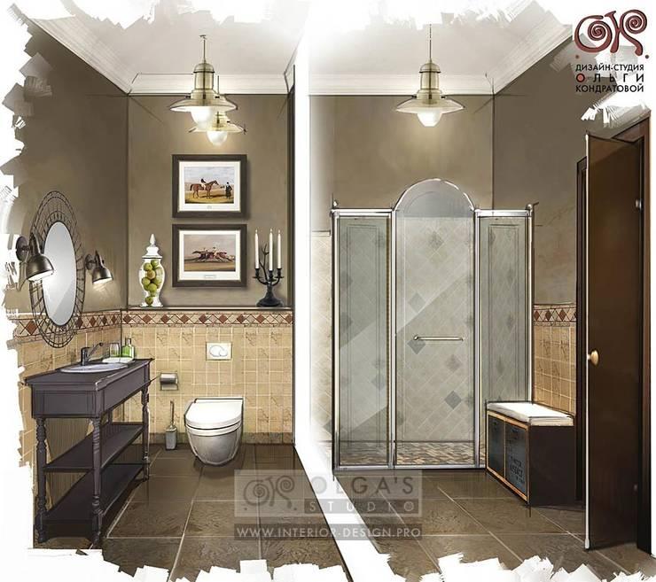 Дизайн санузла в стиле кантри: Ванные комнаты в . Автор – Olga's Studio