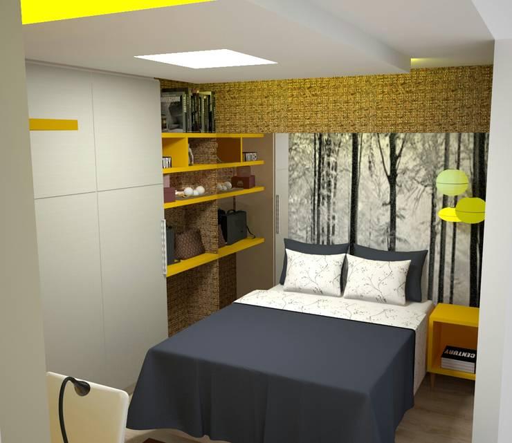 Quarto Casal Jovem : Quartos  por Duecad - Arquitetura e Interiores