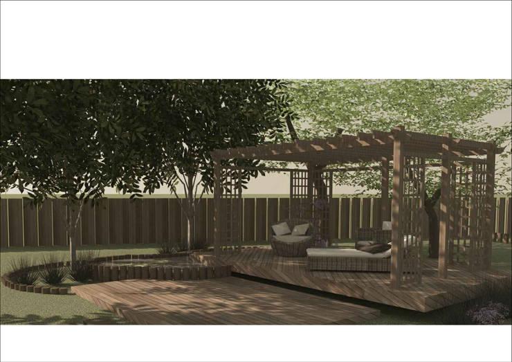 CASA DE CAMPO: Jardines de estilo  por Ronda Estudio
