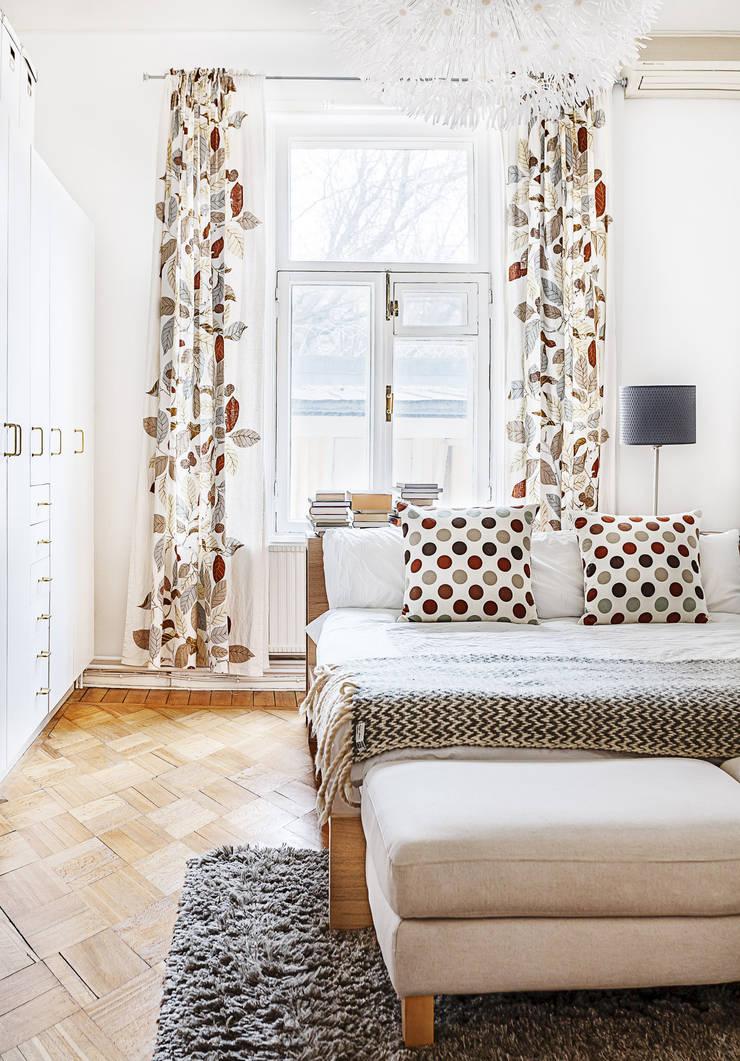 Шведский дом в Москве: Спальни в . Автор – K-Studio