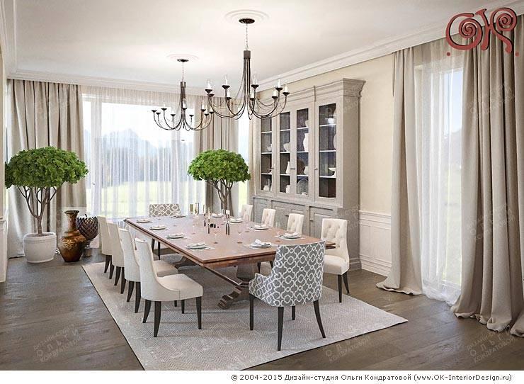 Современные идеи дизайна столовой в доме в стиле прованс: Столовые комнаты в . Автор – Дизайн студия Ольги Кондратовой,