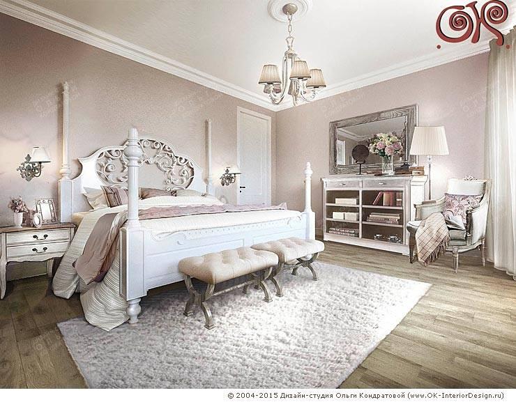 Современные идеи дизайна спальни внутри загородного дома: Спальни в . Автор – Дизайн студия Ольги Кондратовой,