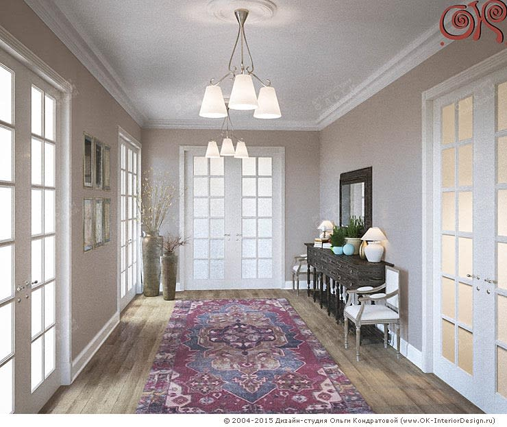 Дизайн коридоров в частном доме: Коридор и прихожая в . Автор – Дизайн студия Ольги Кондратовой,