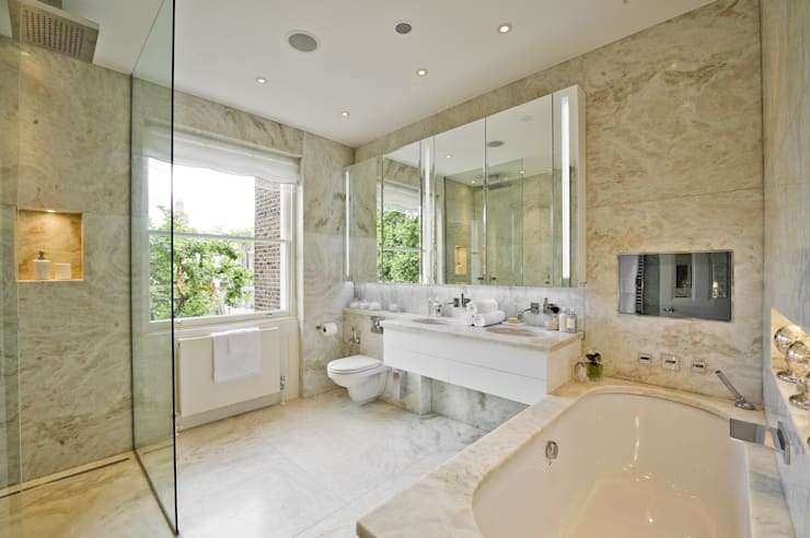 Bathroom at the Chester Street House:  Bathroom by Nash Baker Architects Ltd