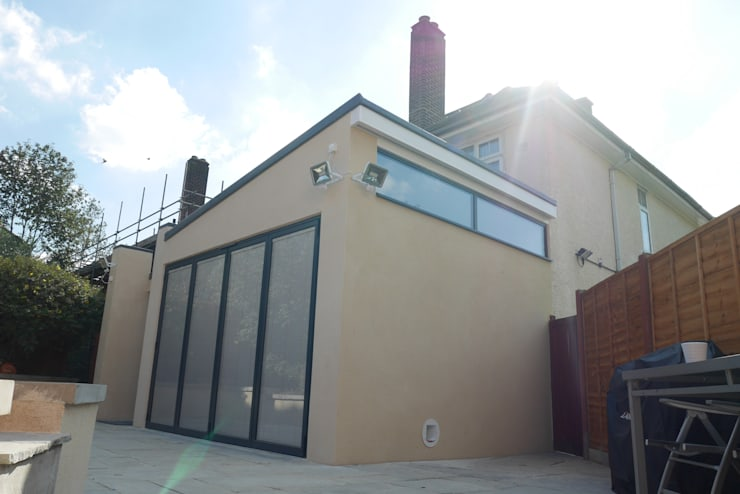 Side and Rear Elevation - As Built:   by Arc 3 Architects & Chartered Surveyors