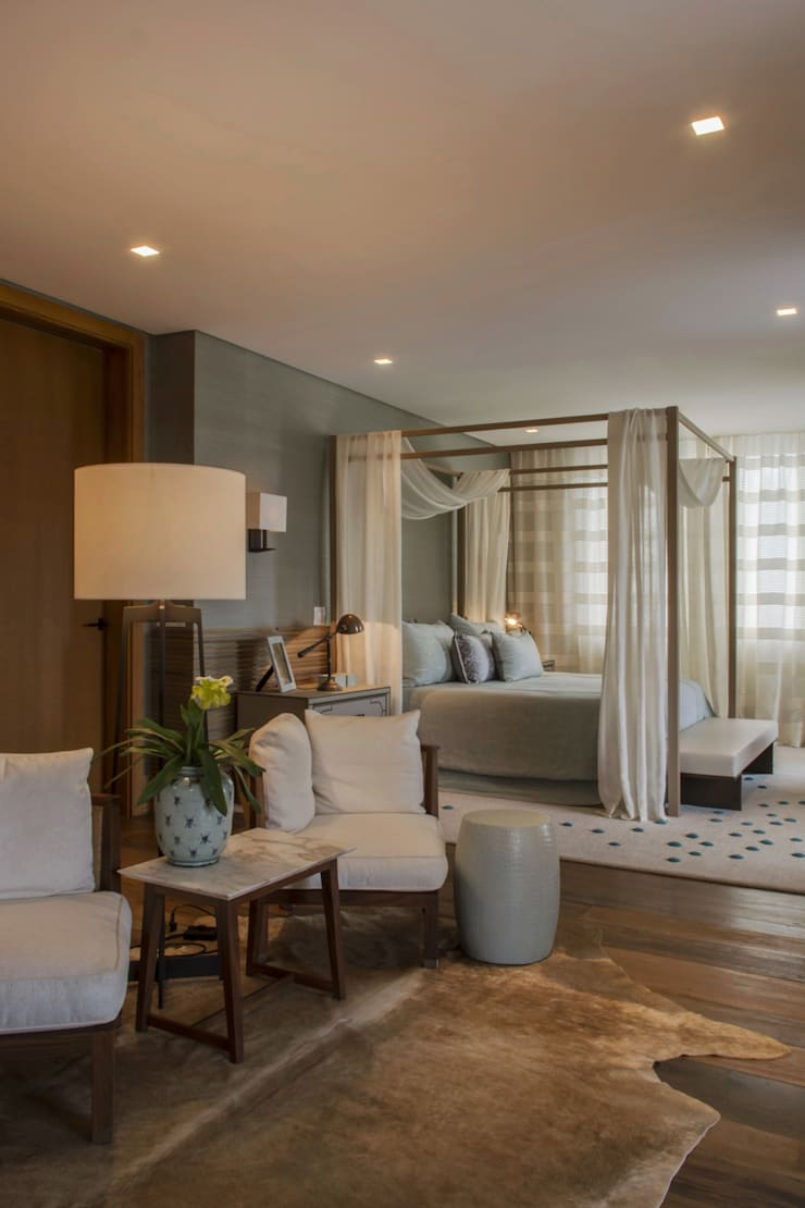 Country style bedroom by Denise Barretto Arquitetura Country
