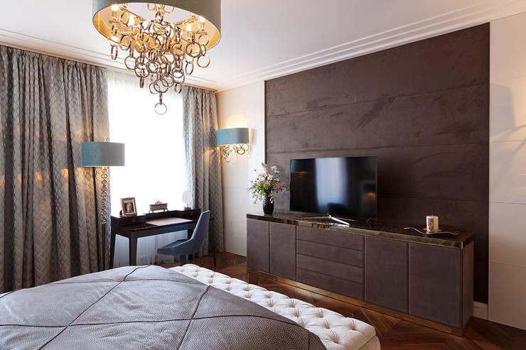 Квартира на Кемской улице в Санкт-Петербурге: Спальни в . Автор – Студия дизайна интерьера 'Юдин и Новиков'