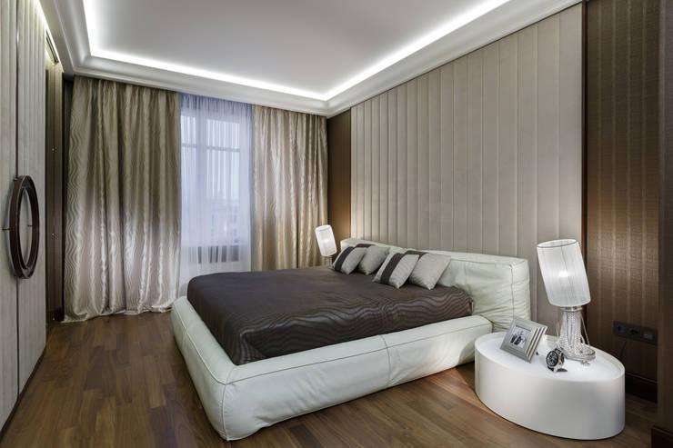 Квартира Ленсовета: Спальни в . Автор – Студия дизайна интерьера 'Юдин и Новиков'