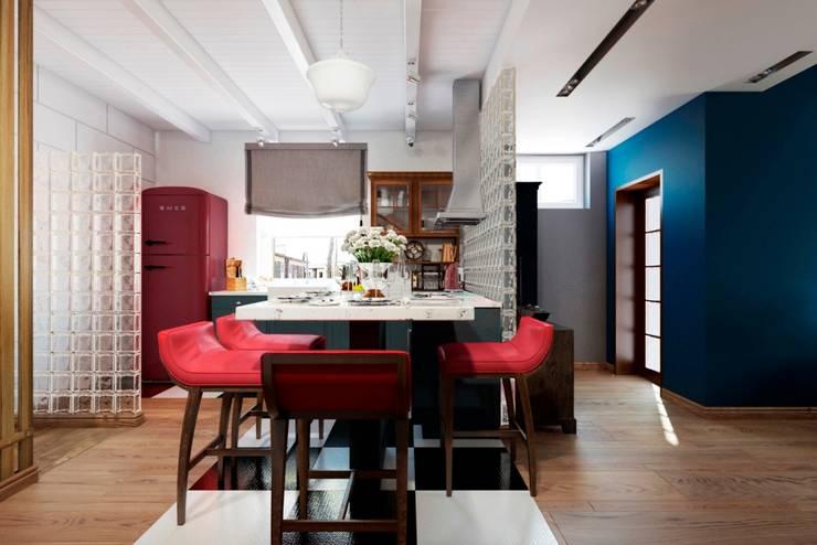 СТИЛЬНЫЕ ПРИЧУДЫ: Столовые комнаты в . Автор – Дизайн студия Алёны Чекалиной, Лофт