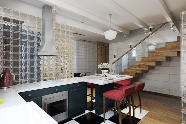 Дизайн студия Алёны Чекалиной:  tarz Mutfak, Endüstriyel