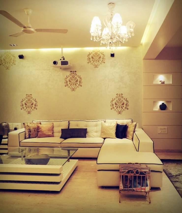 Sanghvi Residence: modern Living room by SwitchOver Studio
