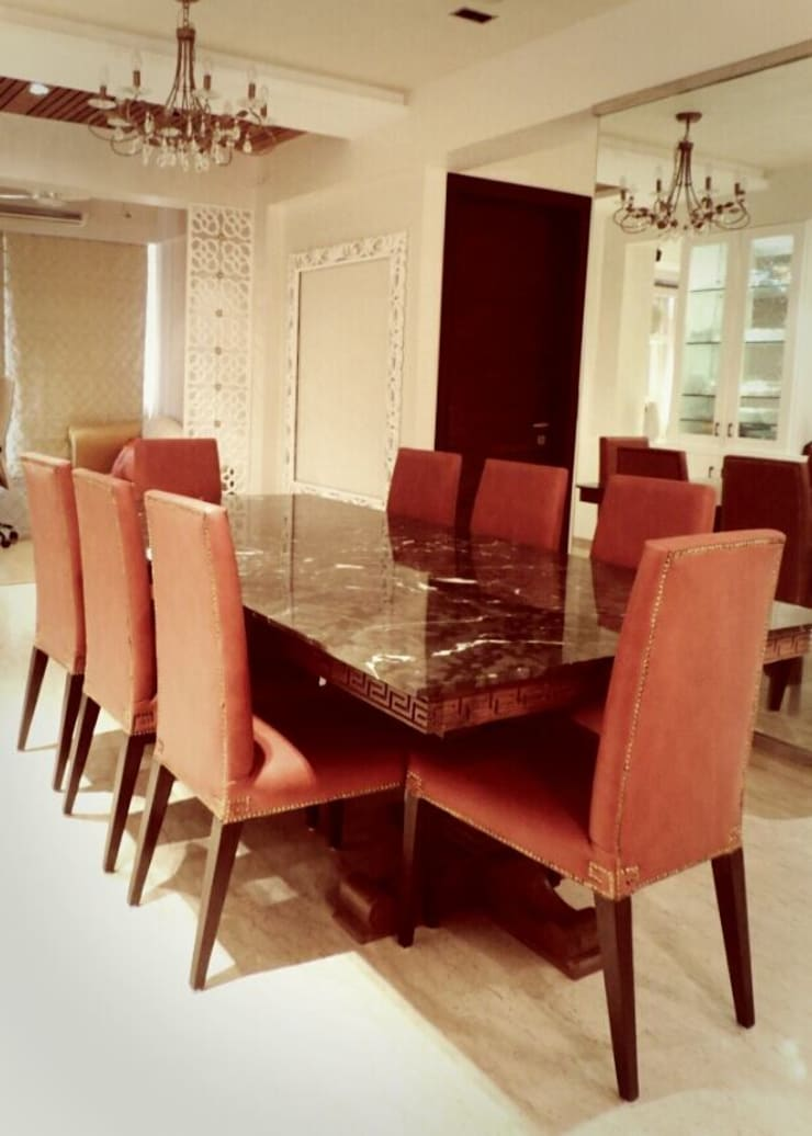 Sanghvi Residence: modern Dining room by SwitchOver Studio